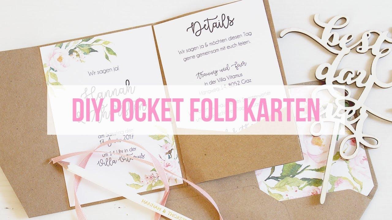 Pocketfold Karten Selber Basteln Youtube