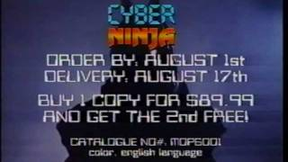 CYBER NINJA (1988)  Fox Lorber Mondo Pop Trailer