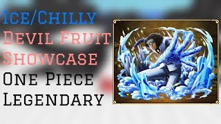 Ice/ Chilly Devil Fruit Showcase | One Piece Legendary Roblox | ConFuseeed