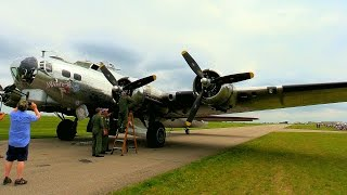 """Glenn Takes a Ride on a Boeing, B-17 """"Flying Fortress"""" - """"Yankee Lady"""" - July 11, 2015"""