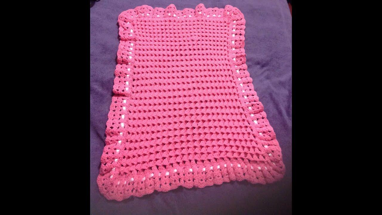 Cobija para bebé. Crochet, tejido muy fácil - YouTube