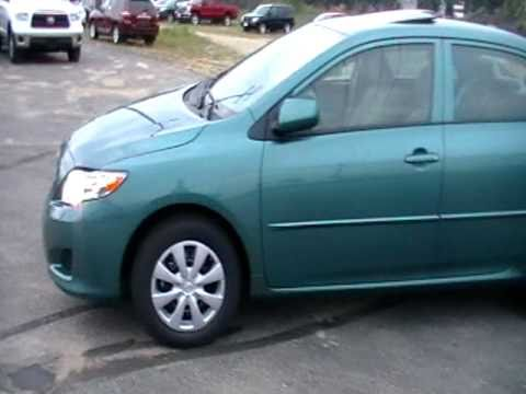 2010 Toyota Corolla Le With Sunroof 15496 New Green Color