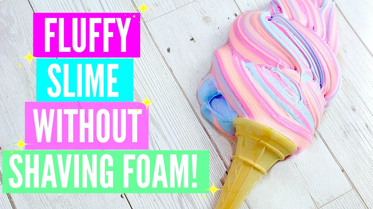 How to make fluffy slime without shaving cream and white glue