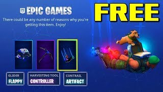 FREE FORTNITE Glider - Pickaxe - Contrail (How to Get FREE)