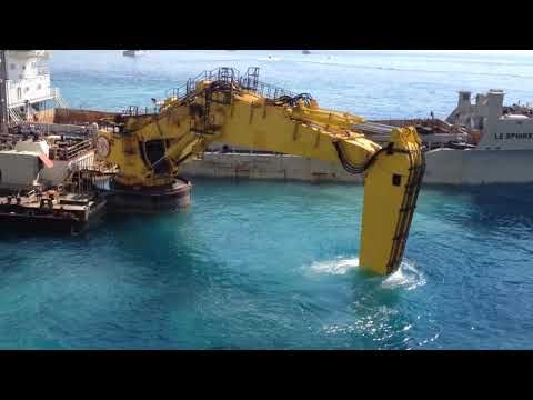 Extension in the Sea of Monaco 1 Big Excavator 18/08/17