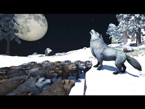 ARK THE HOWLING CREW Play As A Dino Mod! Dire Wolf, Giganotosaurus & Dragonfly Gameplay