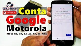 Conta Google Motorola Android 9 Atualizado, Sem PC, Moto G6, G7, Z2, Z3, X4, E5, One
