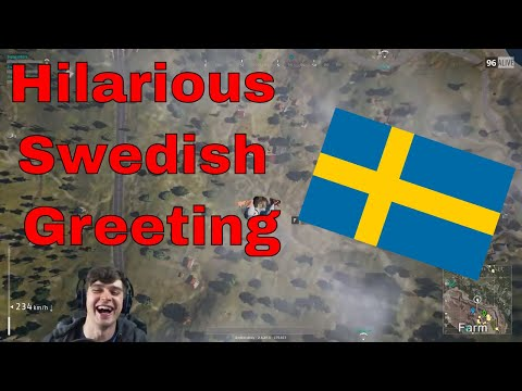 Americans learn hilarious Swedish greeting (while playing PUBG)