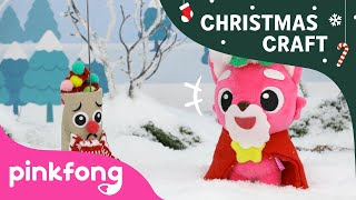How to make Rudolph   Christmas Carols   Craft for Kids   Pinkfong Songs for Children