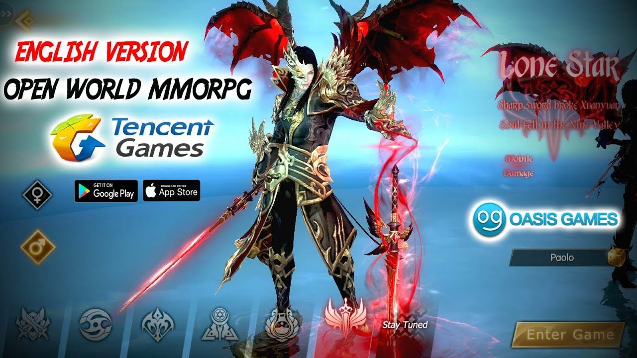 Tencent & Oasis Games !!! Ancient Legend:Mountains And Seas (ENG) Android  Open MMORPG