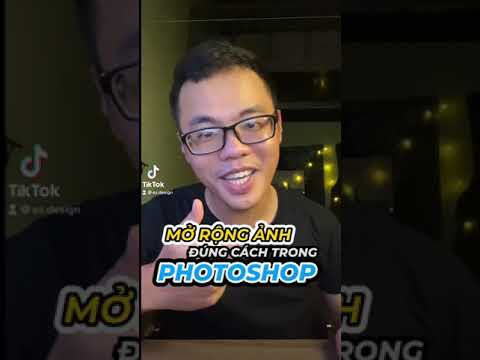 Mở rộng khung hình trong photoshop #Shorts