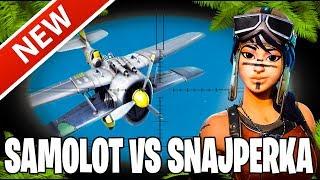 Szok snajperka vs samolot | Fortnite | Sniper vs plane