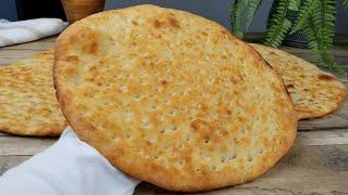 خبز تميس مع سر النكهة مثل المخابز   تميز   Afghani Naan Bread Recipe