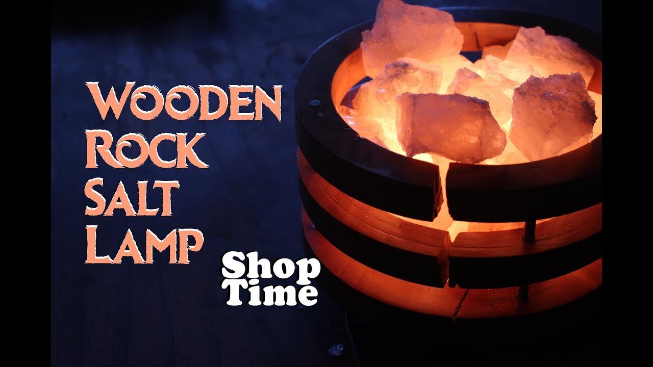 Wooden Rock Salt Lamp Youtube