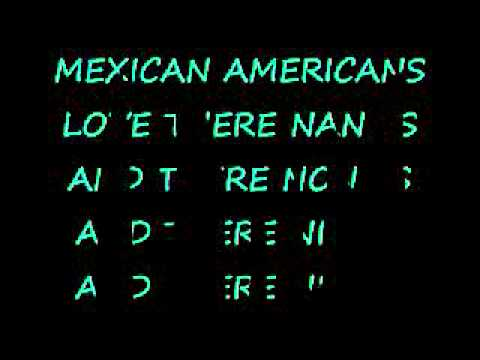 MEXICAN AMERICANS LYRICS :D