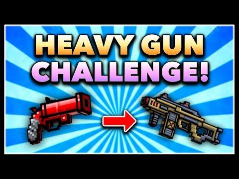 Pixel Gun 3D - Heavy Gun Game Challenge! (Using ALL Heavy Guns)