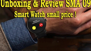 unboxing review sma 09 bluetooth 4 0 heart rate monitor smart watch