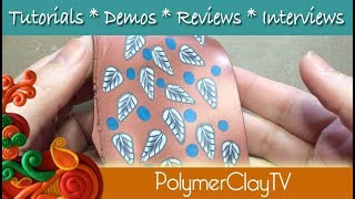 How to make cane fabric or cane veneer with polymer clay using cane slices