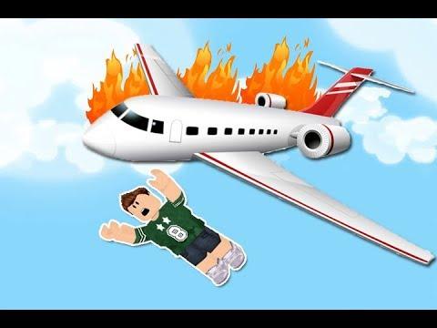 الهروب من تحطم الطائرة فى لعبة roblox !! ✈🔥