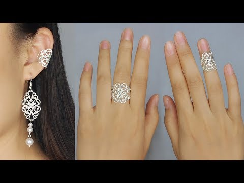 Easy and Fast Vintage Filigree Jewelry Making Tutorial/ How to Make Filigree Jewelries