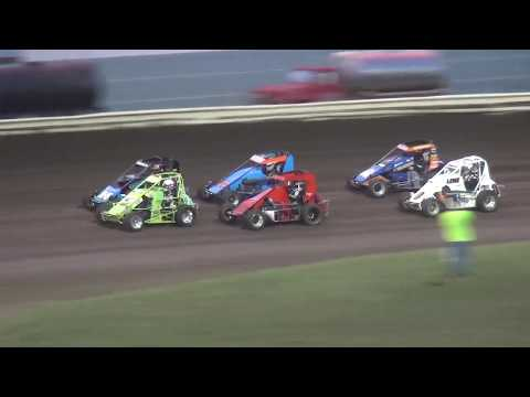 IMRA Illinois Midget Racing Association Heat 1 Pepsi Lee County Speedway 9/14/19