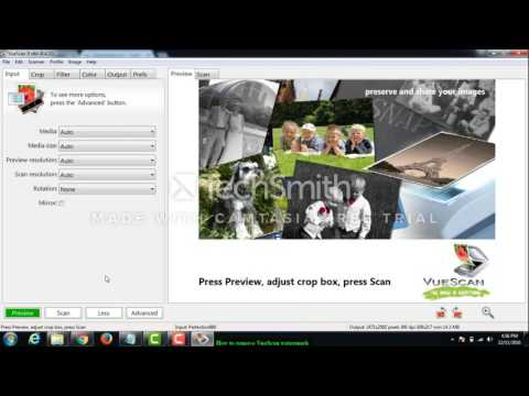 How to remove VueScan watermark