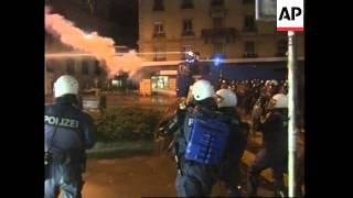 WRAP Latest clashes between riot police and protesters
