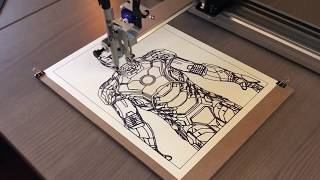 Ironman Vector drawing with AxiDraw v3