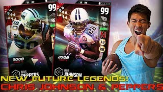 NEW FUTURE LEGENDS CHRIS JOHNSON & JULIUS PEPPERS! MADDEN 17 ULTIMATE TEAM