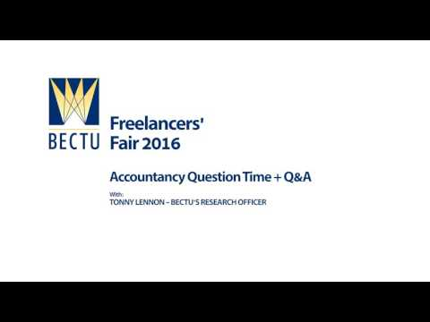 Tax for Freelancers - with Tony Lennon