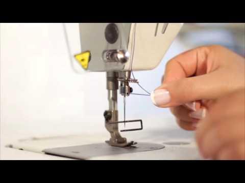 Como enhebrar una Maquina de coser plana industrial - YouTube