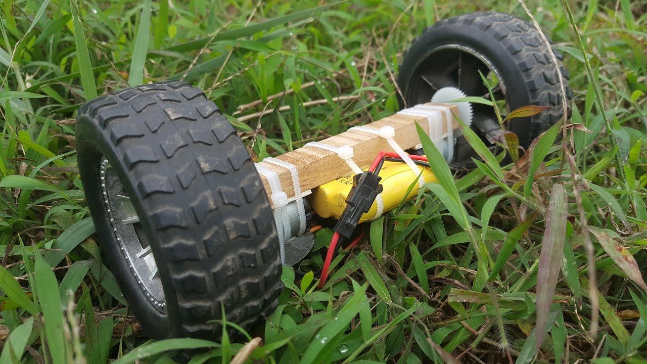 Hướng Dẫn Chế xe 2 bánh điều khiển mini – phiên bản crazy