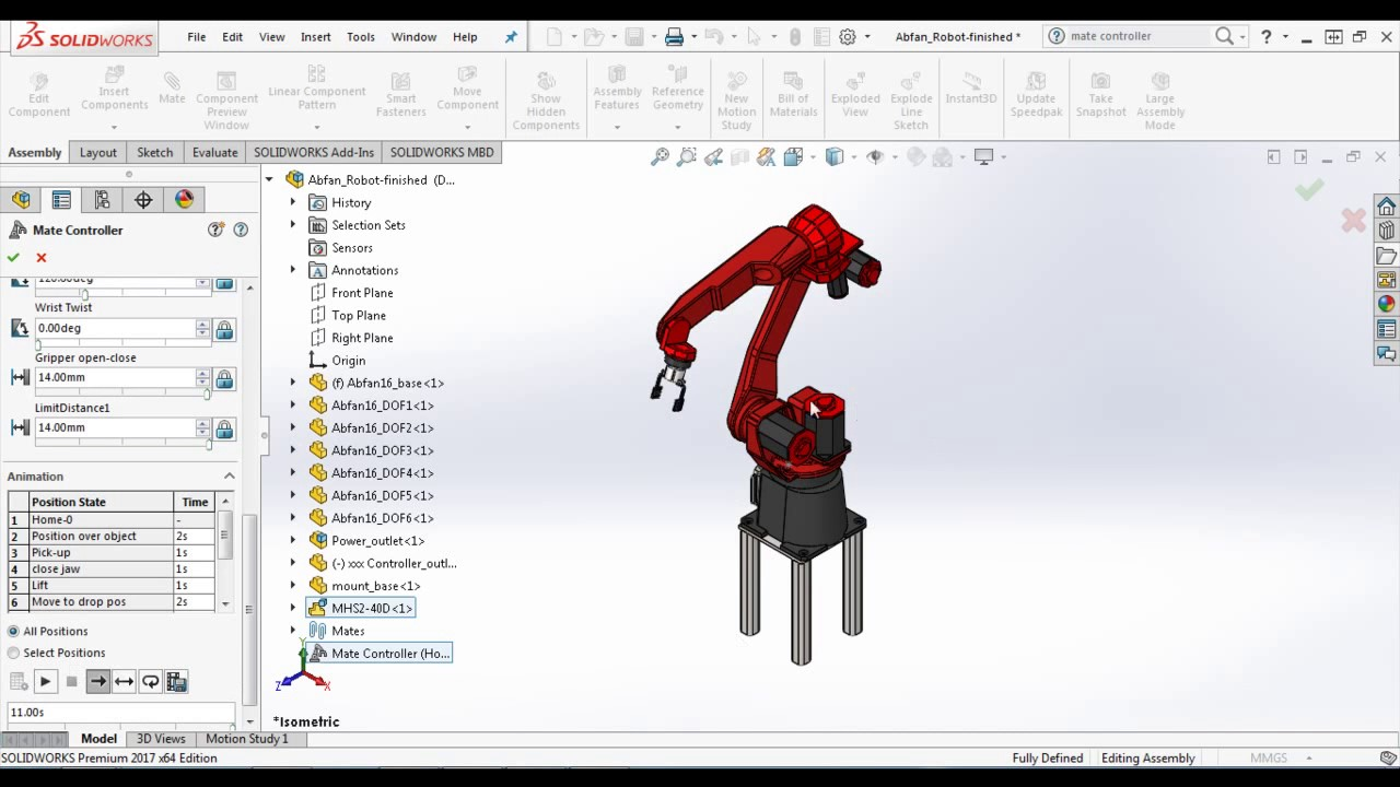 Define motion study - How To Import Mate Controller Positions As Motors In Solidworks Motion