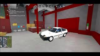 Roblox Vehicle Simulator showing you how to make initial d AE86