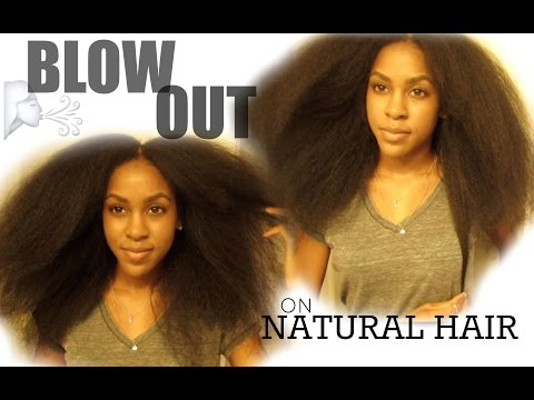 NATURAL HAIR| Blow Out + Trimming 6 Inches Off!