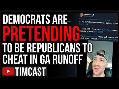 Democrats Are Pretending To Be Republicans To CHEAT In The GA Runoff, This Is Political WAR
