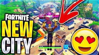 *NEW City: TILTED TOWERS* GAMEPLAY! Fortnite: Battle Royale | X7 Albert