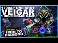 1700AP ONE SHOT VEIGAR! 1 HOUR INSANE GAME! - Iron to Diamond - Ep. 17 | League of Legends