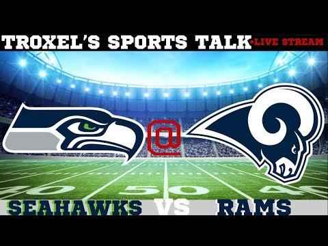 NFL Seattle Seahawks VS Los Angeles Rams Game Audio/Scoreboard Only