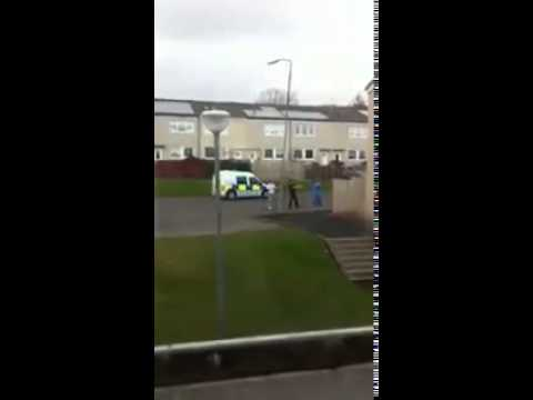 Boy chases cop in glesga