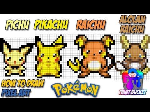 How To Draw Pokemon Evolution Pichu Pikachu Raichu And