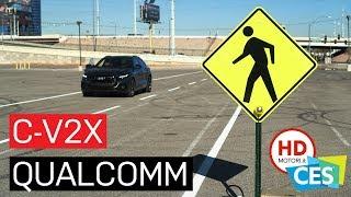 C-V2X QUALCOMM: auto, moto e pedoni | DEMO al CES 2019