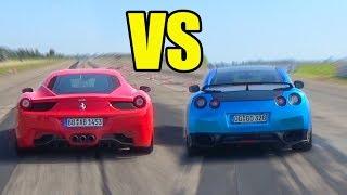 Ferrari 458 Italia vs Nissan GT-R R35 - RACE!😈🚀