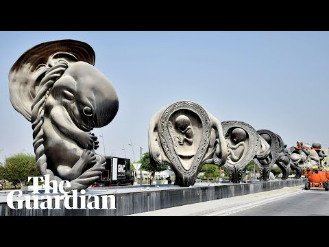Qatar hospital visitors greeted by Damien Hirst foetus sculptures