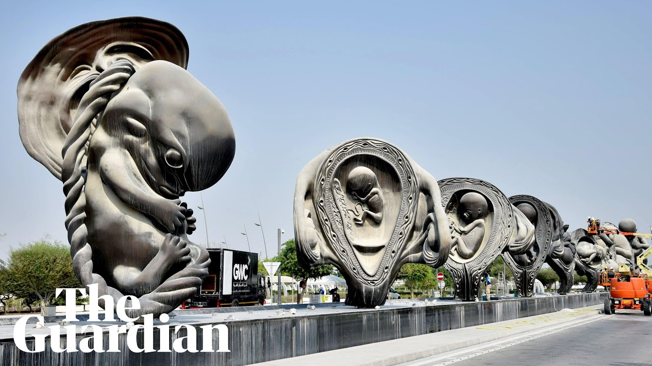 D Exhibition Designer Jobs In Qatar : Qatar hospital visitors greeted by damien hirst foetus