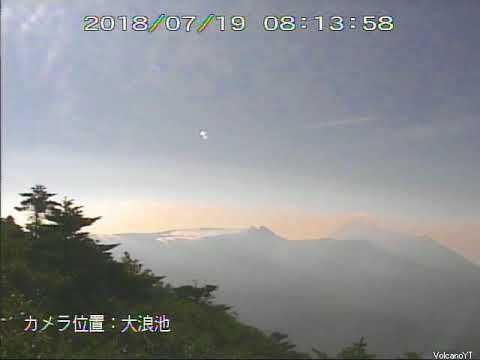 19/7/2018 WITA - Mt Shinmoedake 新燃岳 TimeLapse