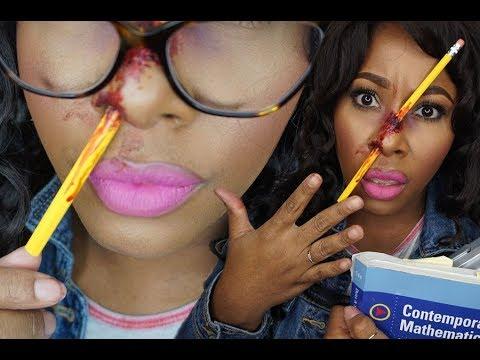 Easy School Girl Pencil Nose SFX Makeup  MakeupMesha + Halloween with Firmoo