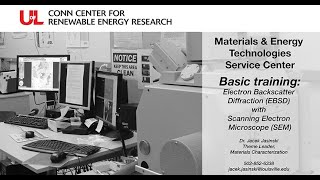 MET Basic Training Electron Backscatter Diffraction (EBSD) with Scanning Electron Microscope (SEM)