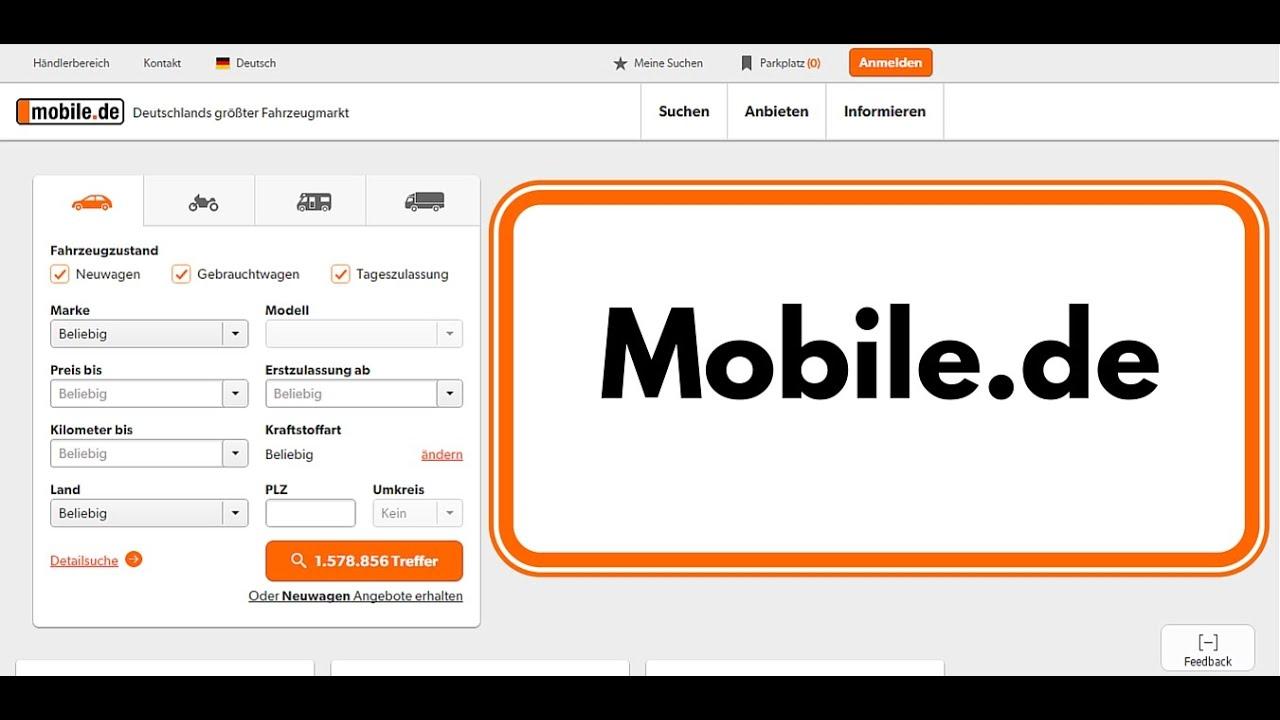 ищем себе авто из европы на мобиле де Mobile De лучший посредник