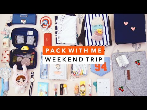 🎒 Pack With Me | Weekend Trip to Taipei 🎒